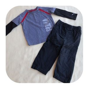 6/$15 24M PUMA shirt & Jumping Beans pants